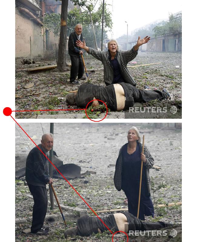 Подделка или постановочное фото из разбомбленной Грузии - 2