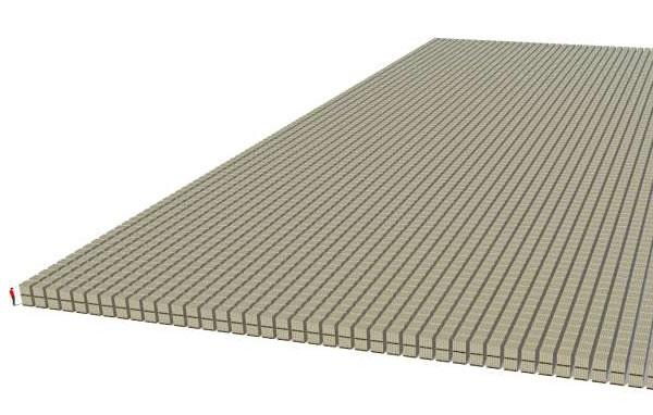 примерно так будет выглядеть триллион рублей, уложенный в штабеля из сторублевых купюр
