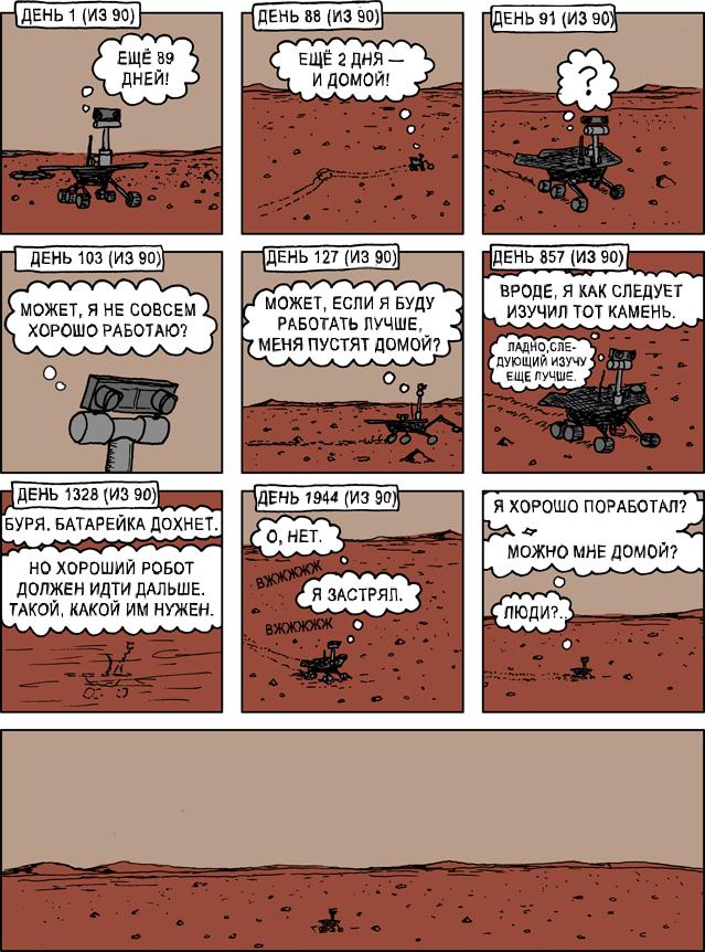 комикс марсоход Спирит